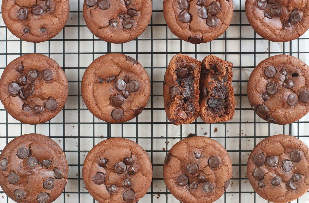 Muffin-tin Mochi Brownies