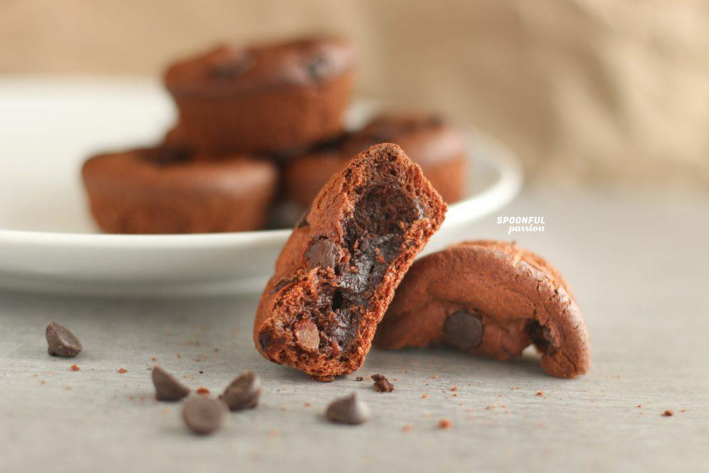 mochi brownies in muffin tin