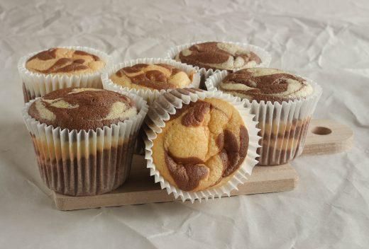 Marble chiffon cupcake